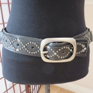 Juicy Couture Brand Name on the Belt Studded Black